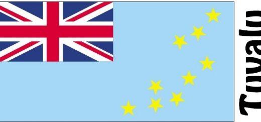 Tuvalu Country Flag