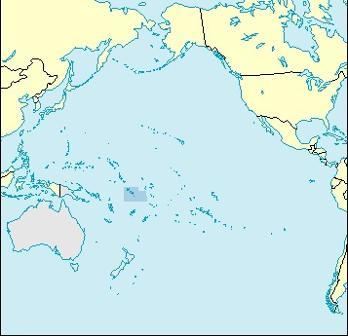 Tuvalu Location Map