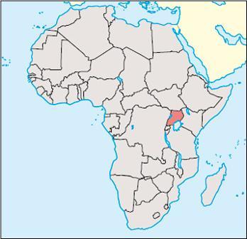 Uganda Location Map