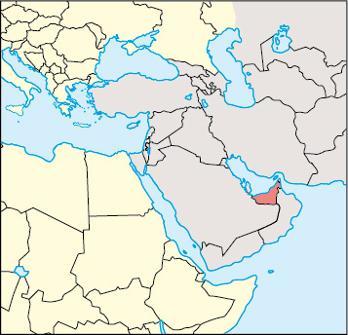 United Arab Emirates Location Map