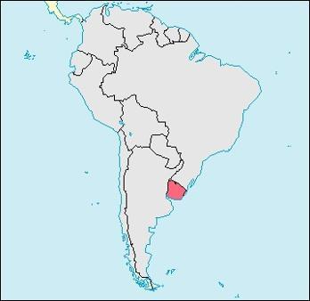 Uruguay Location Map