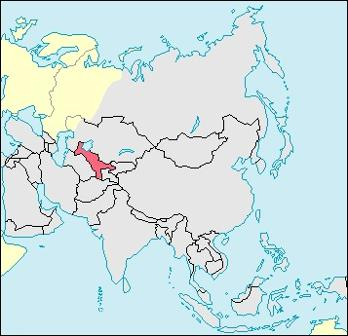 Uzbekistan Location Map