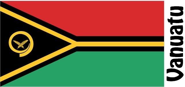 Vanuatu Country Flag