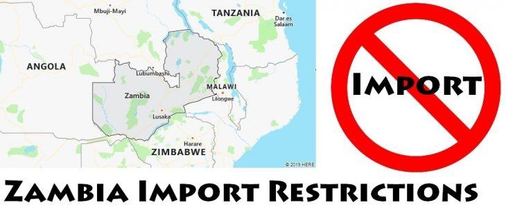 Zambia Import Regulations