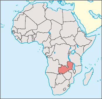 Zambia Location Map
