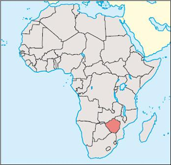 Zimbabwe Location Map