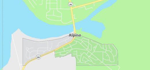 Map of Alpine, WY