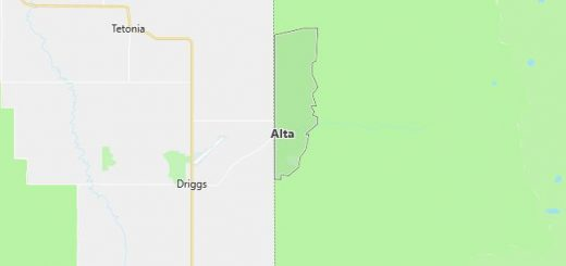 Map of Alta, WY
