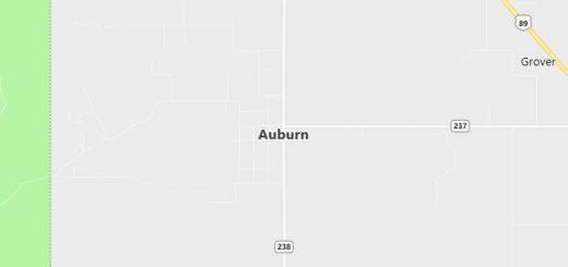 Map of Auburn, WY