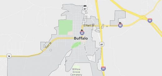 Map of Buffalo, WY