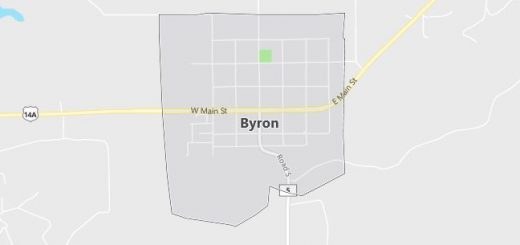Map of Byron, WY