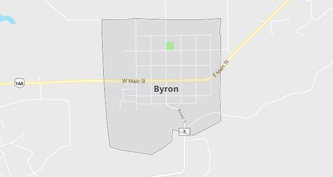 Map of Byron, WY