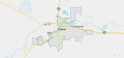 Map of Casper, WY