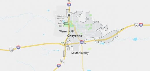 Map of Cheyenne, WY