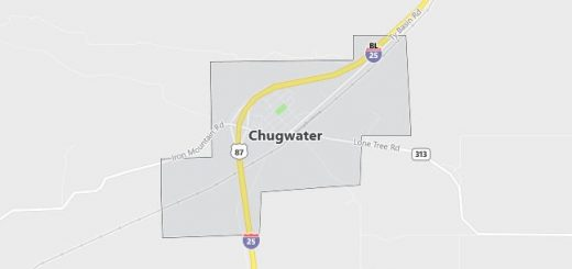 Map of Chugwater, WY