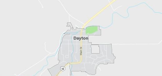 Map of Dayton, WY