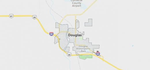 Map of Douglas, WY