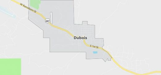 Map of Dubois, WY