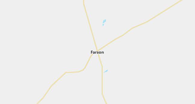 Map of Farson, WY