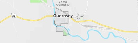 Map of Guernsey, WY