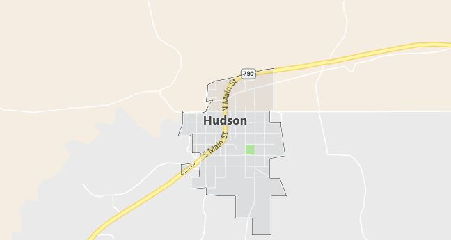 Map of Hudson, WY