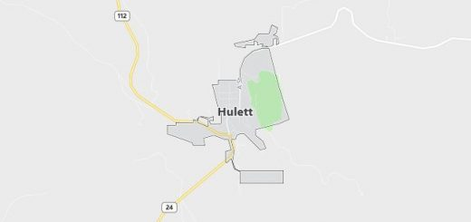 Map of Hulett, WY