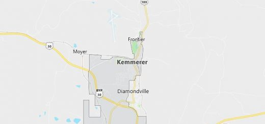 Map of Kemmerer, WY