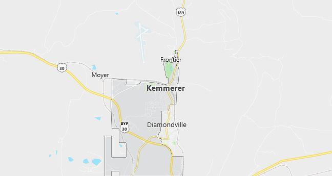 Map of Kemmerer, WY
