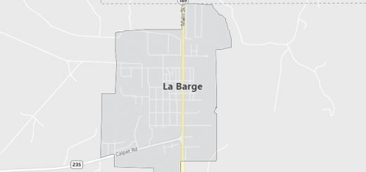 Map of La Barge, WY