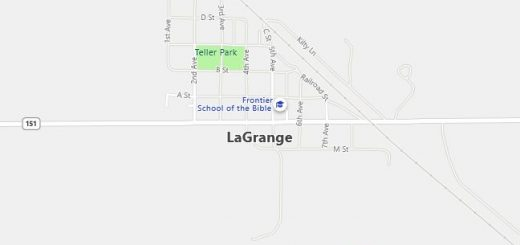 Map of Lagrange, WY