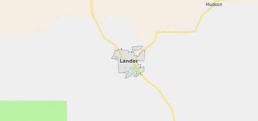 Map of Lander, WY