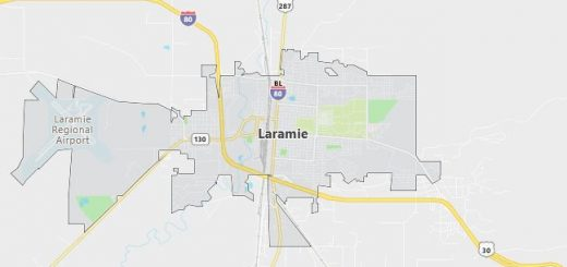 Map of Laramie, WY