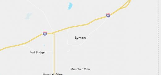 Map of Lyman, WY