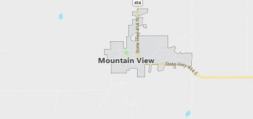 Map of Mountain View, WY