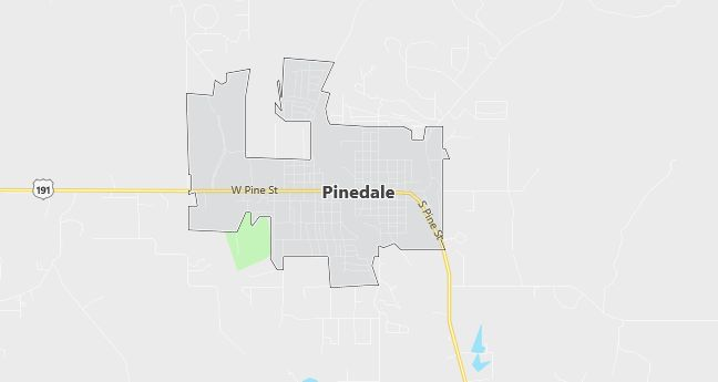 Map of Pinedale, WY