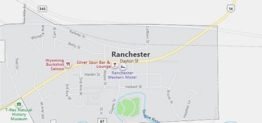 Map of Ranchester, WY