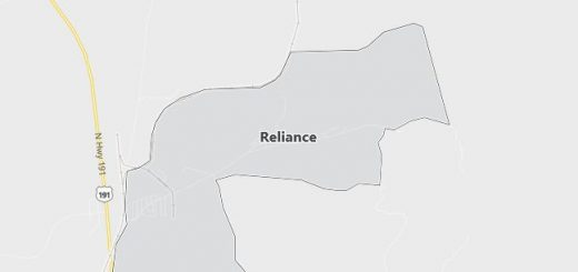 Map of Reliance, WY
