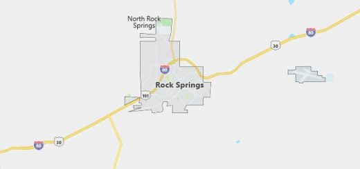 Map of Rock Springs, WY