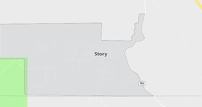 Map of Story, WY