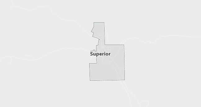 Map of Superior, WY