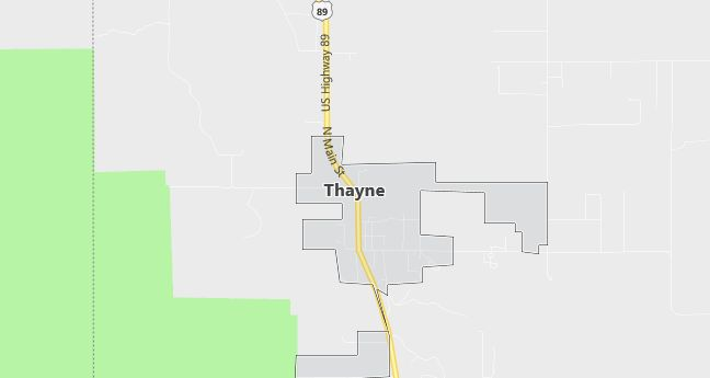 Map of Thayne, WY