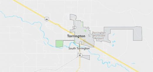 Map of Torrington, WY
