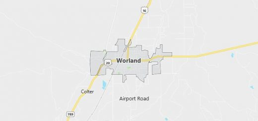 Map of Worland, WY