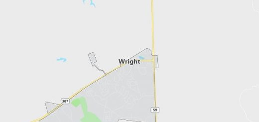 Map of Wright, WY