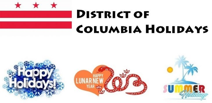 Holidays in District of Columbia