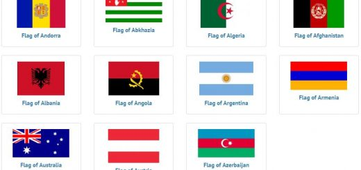 Flags of countries beginning with A