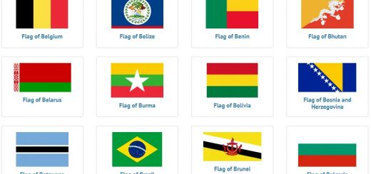 Flags of countries beginning with B