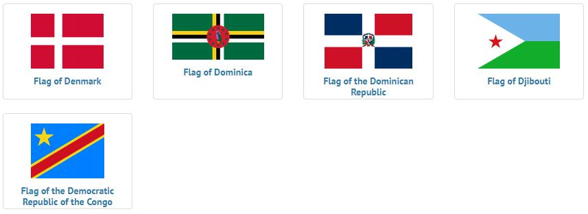 Flags of countries beginning with D