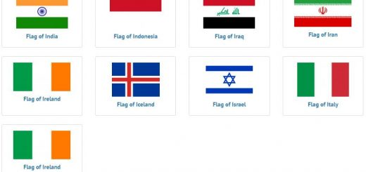 Flags of countries beginning with I