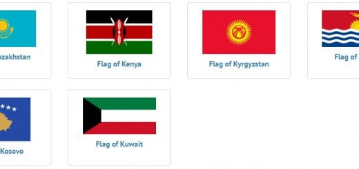 Flags of countries beginning with K
